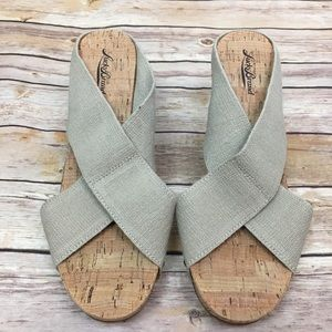 Lucky Brand Cork Wedge Shoes, NWT, Sz 11